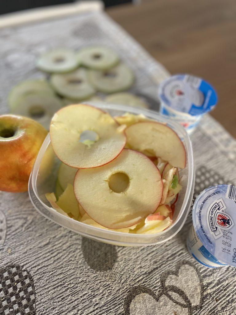 mela a fette sottili